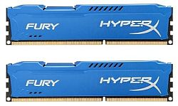 Оперативная Память DDR3 DIMM 8Gb (2x4Gb) PC15000 1866MHz CL10 Kingston HyperX Fury Blue Series