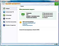 Интерфейс ESET NOD32 Smart Security